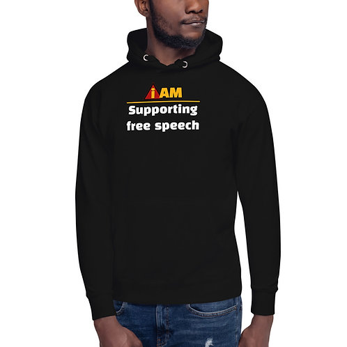 i am supporting free speech Unisex Hoodie