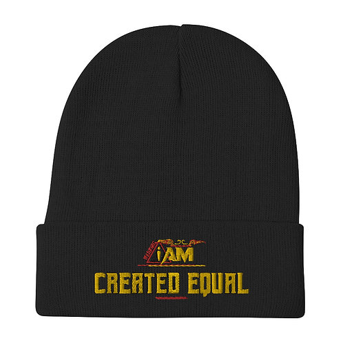 i am created equal Embroidered Beanie