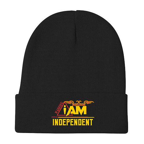 i am independent Embroidered Beanie