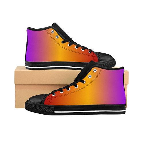 WLA-Design firepink Women's High-top Sneakers by Warning Label Apparel
