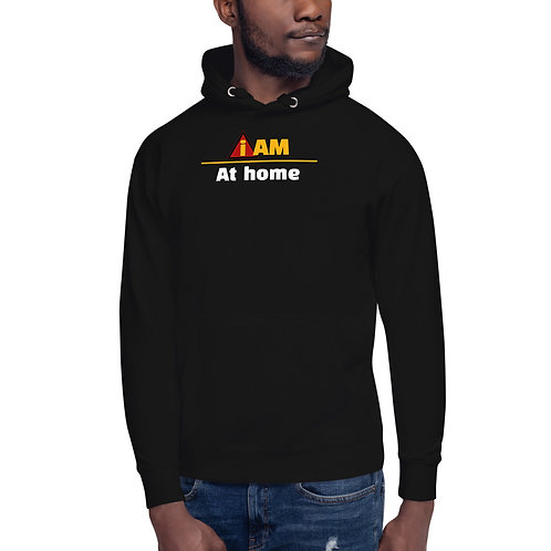 i am at home mens hoodie