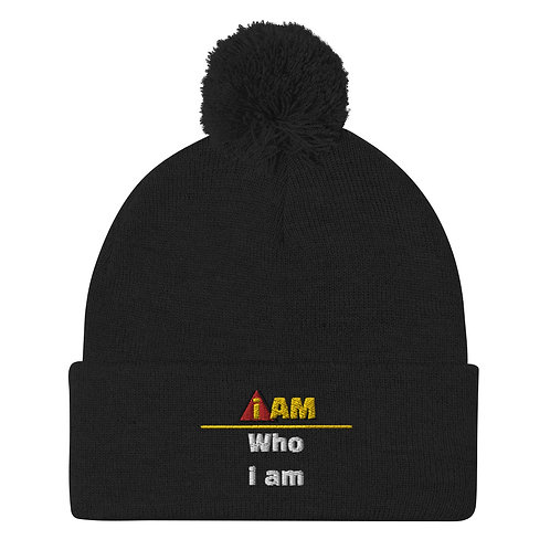 i am who i am Pom-Pom Beanie