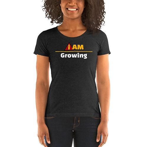 i am growing women's  t-shirt