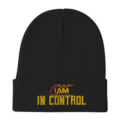 i am in control Embroidered Beanie