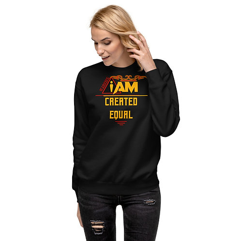 i am created equal women's Fleece Pullover