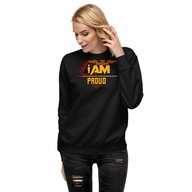 unisex-fleece-pullover-black-front-60160