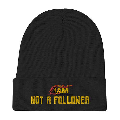 i am not a follower Embroidered Beanie