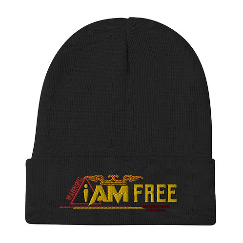 i am free Embroidered Beanie