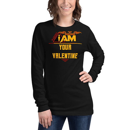 i am your valentine women's Long Sleeve Tee