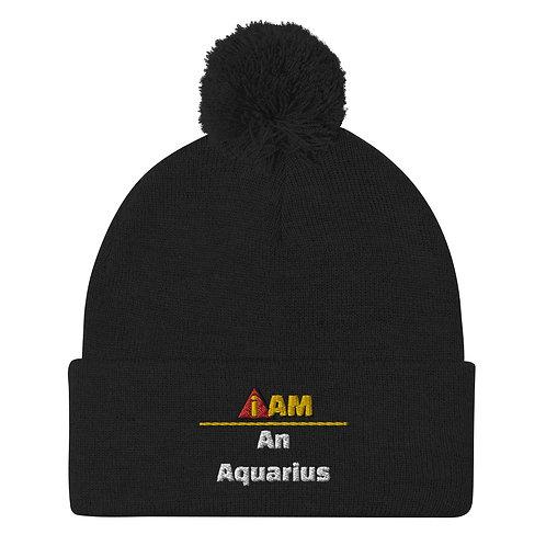 i am an Aquarius Pom-Pom Beanie
