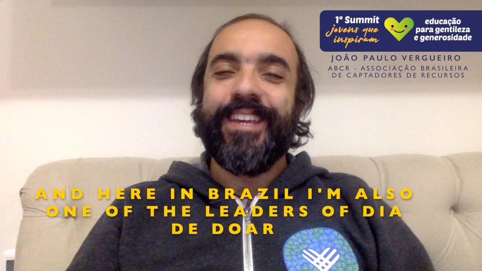 João Paulo Vergueiro (ABCR - Brazilian Association of Fundraisers and Dia de Doar Leader)