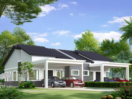 (6.1) Single Storey Semi D Location : Jerlun, Perak