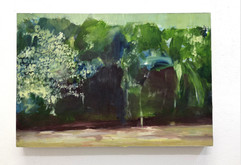 Mangrove 11, Oil on paper on birch plywo