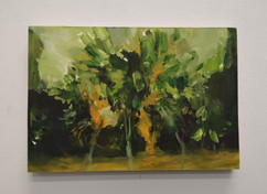 Mangrove 10, 2020, Oil on paper on birch