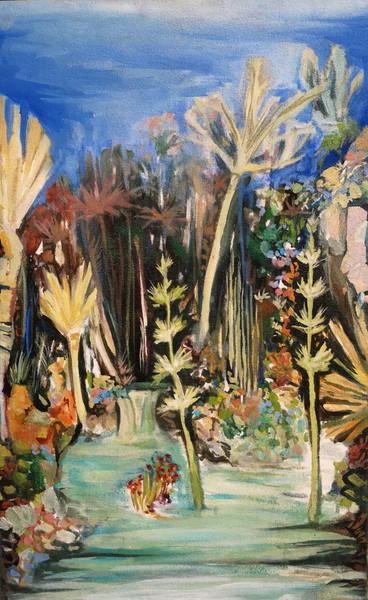 Lagoon, 2019, Oil on canvas, 47 cm x 30