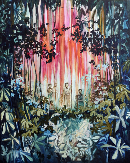 Guardians of the Forest, 2019, Oil on ca