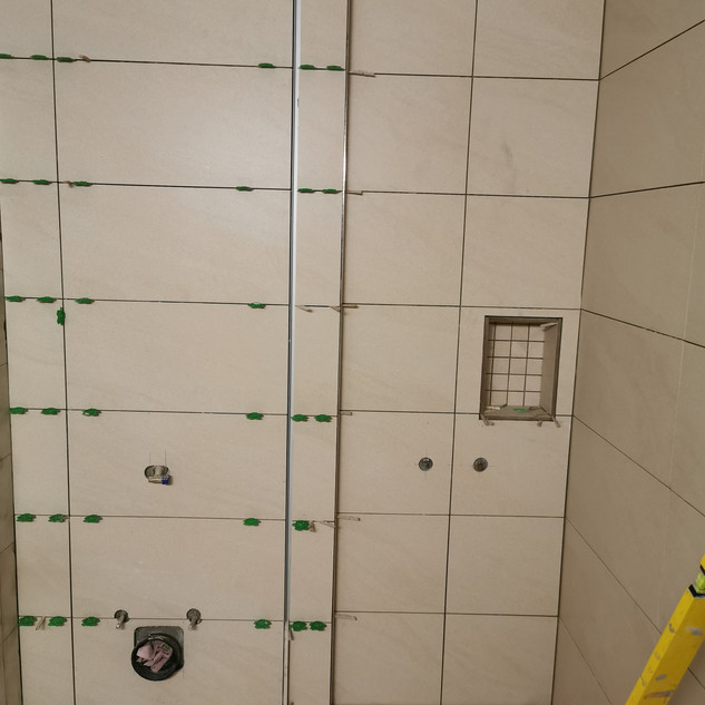 Renovation with tiles and