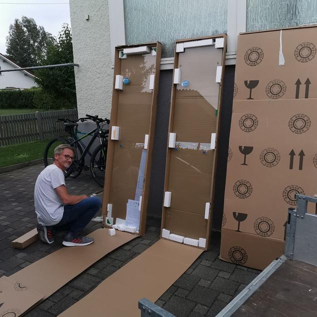 Profiltek Shower enclosure Delivery and Installation
