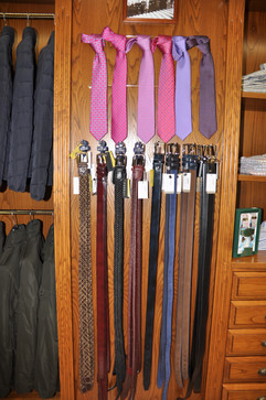 Corbatas y cinturones
