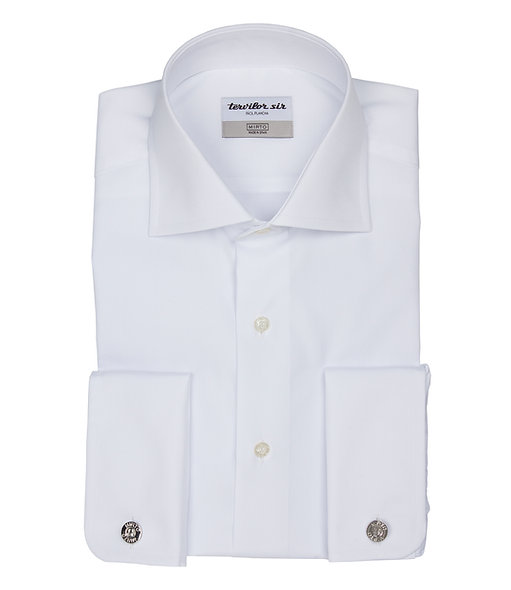 Camisa blanco Tervilor. Puño doble