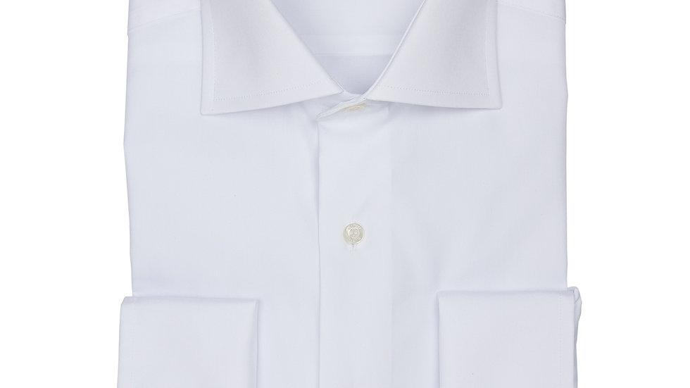 Camisa blanco Tervilor. Puño doble