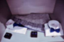 Conjunto de camisa, chaleco y pajarita