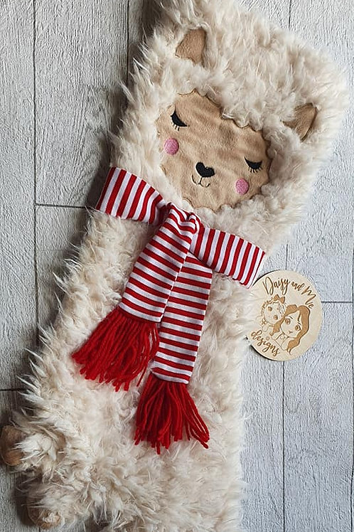 Personalised Lama stocking by Sass and Belle