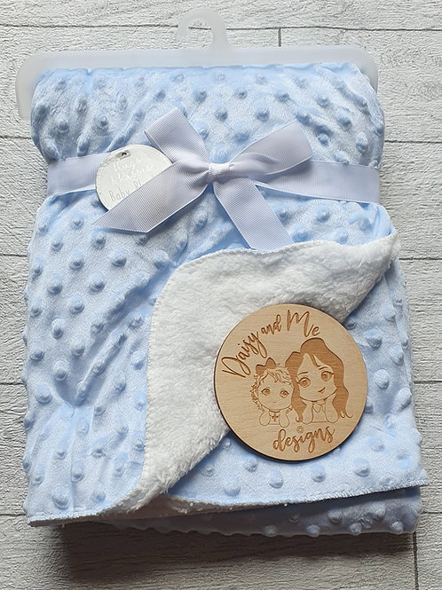 Personalised Baby Blanket Name and Date only