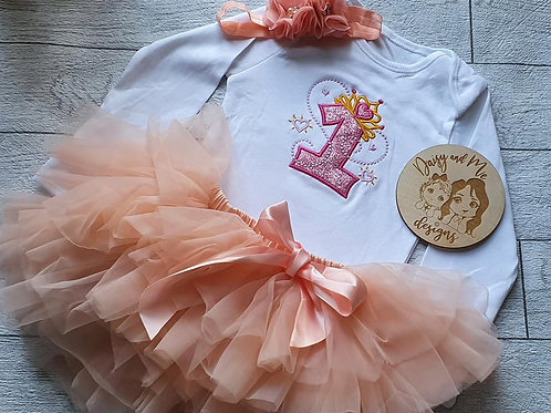 First Birthday Tutu and long sleeve vest !