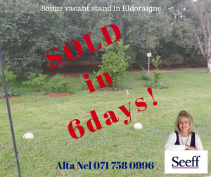 Vacant stand sold in Eldoraigne