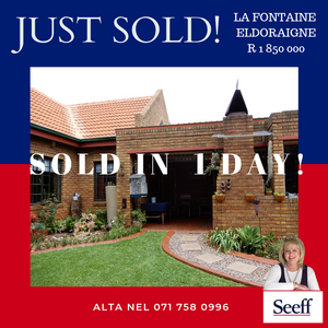 Alta Nel Sold this immaculate townhouse in Eldoraigne in just one day!
