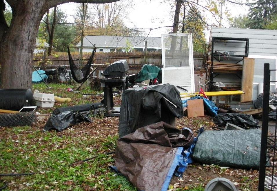 Dirty backyard