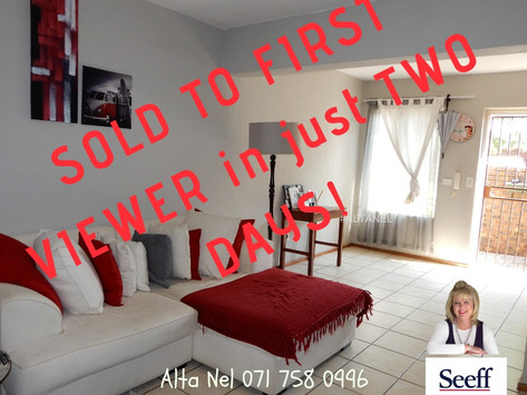 Two Bedroom Townhouse in Hennopspark - R 745 000.