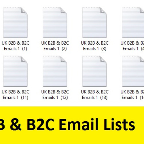 Get b2b and b2c lists of Companies Email Database
