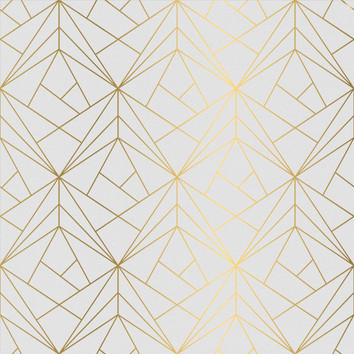Geometric - White / Gold
