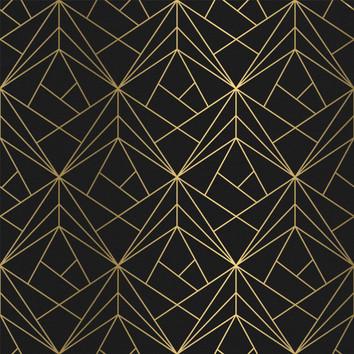 Geometric - Black / Gold
