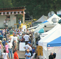 Vendors at the Yellow Pine Festival