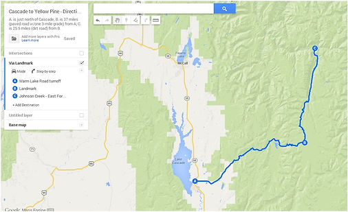 Route 1: Cascade>Landmark>YellowPine