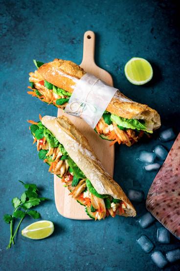 Sandwich Banh mi à l'aile de raie