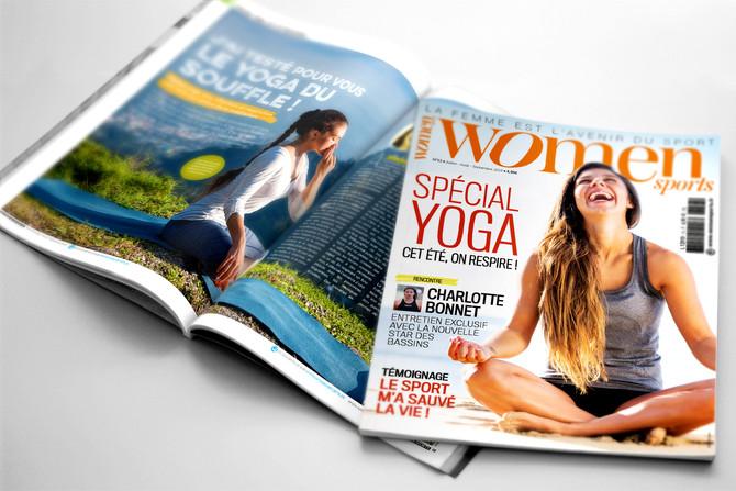 Women Sports N°13 est paru avec un dossier Spécial Yoga : cet été, on respire !