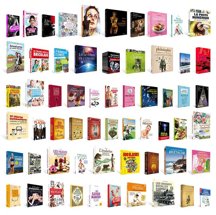 Des centaines de livres déjà conçus