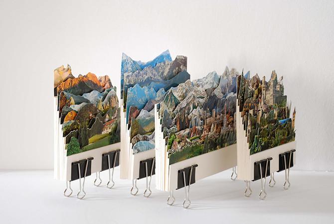 Des paysages en relief recomposés à partir de vieilles cartes postales