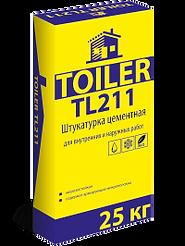 TOILER TL211 Штукатурка цементная для внутренних и наружных работ цена