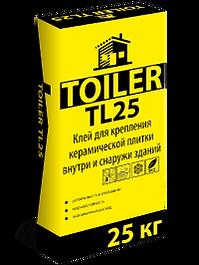 TOILER TL 25 Высокопрочный клей для наружной и внутренней облицовки настенной и напольной керамической плиткой цена