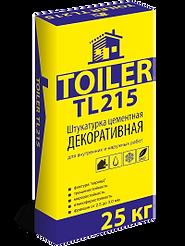 TOILER TL215 Штукатурка цементная декоративная для внутренних и наружных работ фактура Короед цена