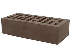Керамический кирпич корица коричневый гл
