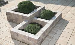 заборный блок в ландшафтном дизайне