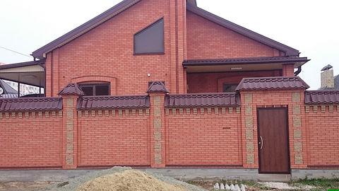 Дом из Новокубанского красного кирпича 1