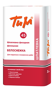 ТиМ № 45 Шпатлевка фасадная фи-нишная белоснежная цена