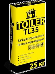 TOILER TL 35 Высокопрочный клей для укладки керамической плитки и керамогранита при внутренних и наружных работах цена